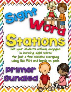 http://www.teacherspayteachers.com/Product/Sight-Word-Stations-PrimerBundled-1214228