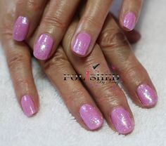CND SHELLAC BECKONING BEGONIA AND LECENTE BABY PINK GLITTER