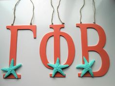 Greek Letters - Greek Alphabet - Phi - Gamma - Beta - Chic Decor - Monogram Decor - Custom Letters - Preppy Decor