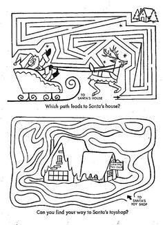 christmas puzzle mazes
