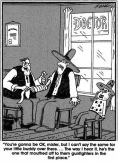"Gary Larson  | The Far Side | ""He's the one that mouthed off..."""