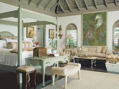 Tour a tropical retreat in Jamaica that blends old world charm with new world amenities