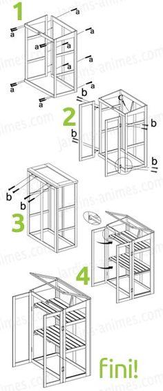 Montage simple et facile du petit chassis de croissance, en bois