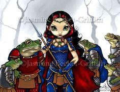 Frog General fantasy armor elf gothic art Jasmine Becket-Griffith CANVAS PRINT