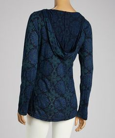 Another great find on #zulily! South Beach Blue Talavera Hoodie by Fresh Produce #zulilyfinds