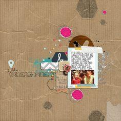 1 photo + cardboard + paint + hexagons + circles