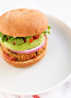 Sweet Potato & Black Bean Veggie Burgers.  MMM!! I love that there are only yummy and quality health ingredients in these. GOTTA try them soon!