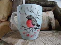 RĘCZNIE MALOWANY KUBEK - GIL Mugs, Tableware, Art, Art Background, Dinnerware, Tumblers, Tablewares, Kunst, Mug