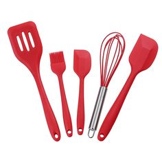 Kitchenware Set Non-Stick Silicone Cooking Tools Coating 5 PCS - Cookware