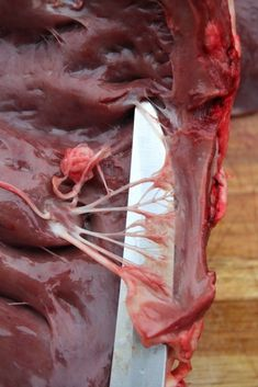 Deer hearts are one of the most underappreciated cuts of venison around. While many hunters Pot Roast Brisket, Beef Tenderloin Roast, Pork Roast, Deer Recipes, Wild Game Recipes, Deer Heart Recipe, Bacon Wrapped Steak, Deer Processing, Soylent Green