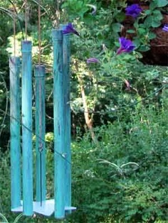 Instructions on how to make your own copper wind chimes - I've been looking for these!