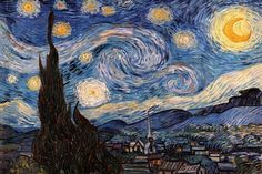 The Starry Night Canvas Wall Art by Vincent van Gogh | iCanvas
