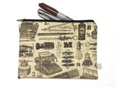 Writer's pencil case typewriter and antique by givemeacrown