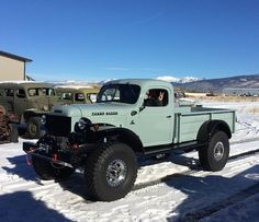 Dodge Power Wagon, the King of the bush where I come from. Old Dodge Trucks, Dodge Pickup, Old Pickup Trucks, 4x4 Trucks, Diesel Trucks, Custom Trucks, Cool Trucks, Dodge Cummins, Dodge Diesel