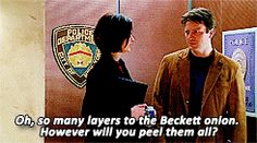 """""""So many layers to the Beckett onion. However will you peel them all?"""""""