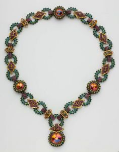 .Beaded rings necklace