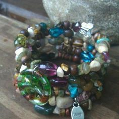 Laughing Soul Five Wrap Memory Wire Beaded by DFInspirations, $45.00