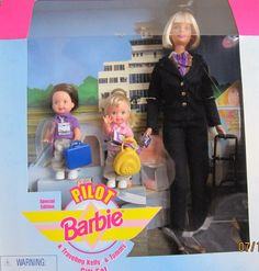 Pilot Barbie® Doll and Traveling Tommy® Doll and Kelly® Doll