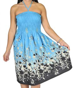 One-size-fits-most Tube Dress/Coverup - Field Of Flowers (many colors)