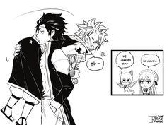 I ain't a huge shipper on Gray x Natsu but I'm a Natsu x Gray shipper (I find this very cute though)