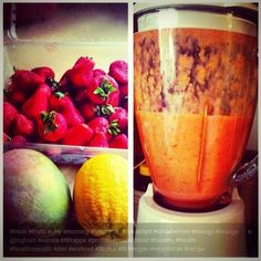 MTF aka Marian The Foodie @Marian Bacol-Uba shared this yummy recipe today Mango Orange w/ Big Train Vanilla Fit Frappe protein smoothie. Nice!