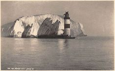 The Needles, Lighthouse, Phare, Photogravure Isle Of Wight, Lighthouses, Fresh Water, Sea, Antiques, Artwork, Painting, Vintage, Lighthouse