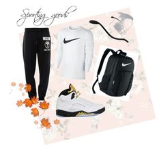 """Sporting goods"" by sabrina-8591 ❤ liked on Polyvore featuring Captiva, NIKE and Moschino"