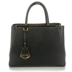 FENDI Vitello Elite Medium 2Jours Tote Black