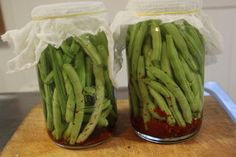 Lacto-Fermented beans give off lactic acid preserving them for months and also giving them a tangy taste. This way of fermenting means they will still have their nutrients - enzymes and vitamins intack and still be crunchy. Fermented Foods, Food Now, Celery, Preserves, Real Food Recipes, Asparagus, Vitamins, Vegetables