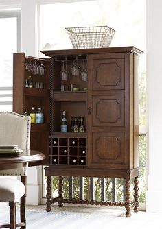 """Dogwood """"A Guy Walks Into A Bar"""" Cabinet by Universal at Baer's Furniture"""