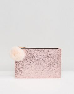 Buy Skinnydip Rose Gold Glitter Clutch Bag With Faux Fur Pom at ASOS. With free delivery and return options (Ts&Cs apply), online shopping has never been so easy. Get the latest trends with ASOS now. Glitter Clutch Bag, Asos, Rose Gold Glitter, Fur Pom Pom, Cute Pink, Fashion Online, Faux Fur, Accessories, Women's Bags