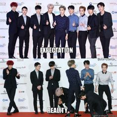 It just looks like Suho embarrassed himself and the rest are laughing at him
