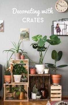 Happy Interior Blog: Decorating With Wine Crates ähnliche tolle Projekte und Ideen wie im Bild vorgestellt findest du auch in unserem Magazin . Wir freuen uns auf deinen Besuch. Liebe Grüße Mimi