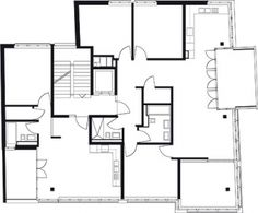 Peter Märkli - Hohlstrasse Modular Floor Plans, Flat Plan, Concrete Staircase, Plan Drawing, Cool Apartments, Architecture Plan, My House, Layout, How To Plan