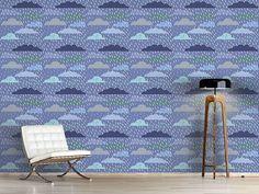 Design #Tapete Gewitterwolken Patchwork