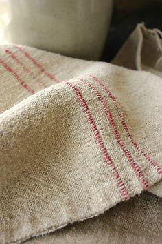 Antique European homespun hemp grain sack ~ lovely texture! ~