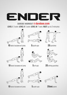 Ender is a total body workout that will deliver strength and better body control as a result. Hiit Workouts For Men, Fitness Workout For Women, Running Workouts, At Home Workouts, Fitness Tips, Workout Routines, Hero Workouts, Health Fitness, Workout Ideas