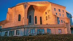 Goetheanum – Goethe's Faust in Rudolf Steiner House - Switzerland Tourism Rudolf Steiner, Organic Architecture, Contemporary Architecture, Goethe's Faust, Switzerland Tourism, Normal House, Art Deco Buildings, Unusual Homes, Mansions