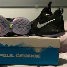 .@brennannicoll with a pair of #pg1. Looks more like NC-17 to me! #wpgsgotsole #nike #paulgeorge #coveryourchildseyes