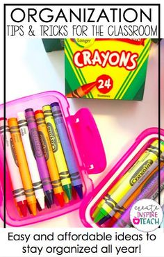 Stay organized this school year with some easy and affordable tips and tricks! Classroom Setting, Classroom Setup, Kindergarten Classroom, School Classroom, Classroom Libraries, Teacher Organization, Teacher Hacks, Organized Teacher, Organization Ideas
