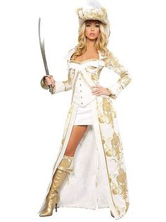 Women's Sexy Deluxe Pirate Queen Costume | Sexy Pirate Halloween Costumes
