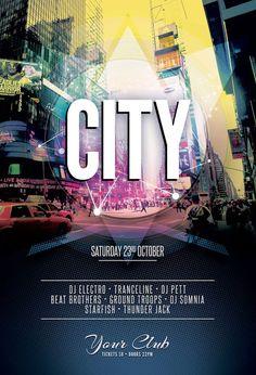 Flyer Samples Templates Prepossessing City Flyer  Pinterest  City Flyer Design Templates And Party Poster