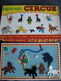 Fuzzy Felt -- this looks so familiar - I'm sure my kids had this -- they also had similar type toys by Colorform