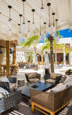 Courtyard Bar by day, The Shore Club Turks & Caicos Explore Dream Discover, Day Club, Best Hotels, Amazing Hotels, The Turk, Bar Lounge, Turks And Caicos, Caribbean, House Design