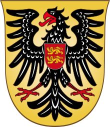 This is my final coat of arms. I wanted to do a few other ones but I could not find the coat of arms for them. This is the coat of arms of Otto IV of Brunswick, Holy Roman Emperor. He was one of two rival kings of the Holy Roman Empire from 1198 until 1208 when he became the sole ruler. He became the Holy Roman Emperor in 1209 until his death in 1218. He was the only king of the Welf dynasty. Even though he was the Holy Roman Emperor he was excommunicated by the Pope in 1215.