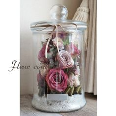 Glass Domes, Glass Bottles, How To Preserve Flowers, Decoration, Dried Flowers, Rose, Beautiful, Plants, Home Decor