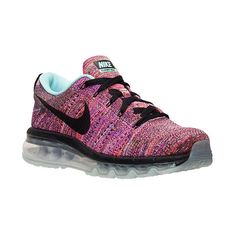 Women's Nike Flyknit Air Max Running Shoes ($225) ❤ liked on Polyvore featuring shoes, athletic shoes, nike, running shoes, print shoes, nike footwear and rubber shoes