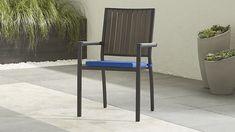 $188 ($1504 for 8) Alfresco Grey Dining Chair with Sunbrella ® Cushion