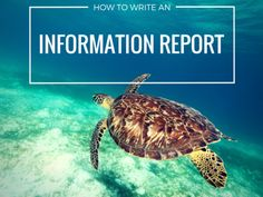 Learn how to write an information report. Planning tools, video tutorials,  writing prompts and teaching ideas for teachers, students and parents.