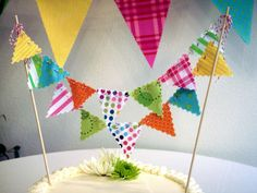 Cake Bunting Whimsical Festive Banner on Bakers Twine. $20.00, via Etsy.